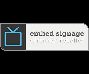 embed signage digital signage software certified reseller status