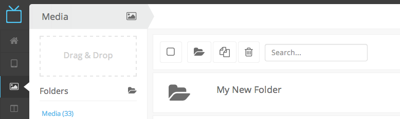 embed signage Digital Signage Software SaaS Online Cloud Based Content Management System - Support FAQs - Add Media To Folder  - List View