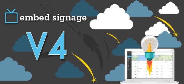 embed signage Digital Signage SaaS Online Cloud Based Content Management System - V4 Software Launch