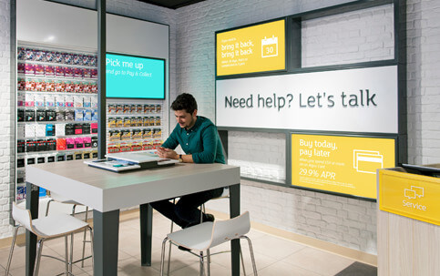 embed signage cloud based digital signage software - How Digital Signage Transforms the In-Store Experience - Customer Service at Argos