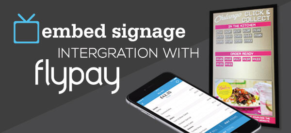 embed signage digital signage software cloud based flypay intergration header