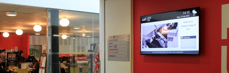 embed signage cloud based digital signage software in education close up