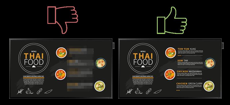 embed signage thai digital menu board broken