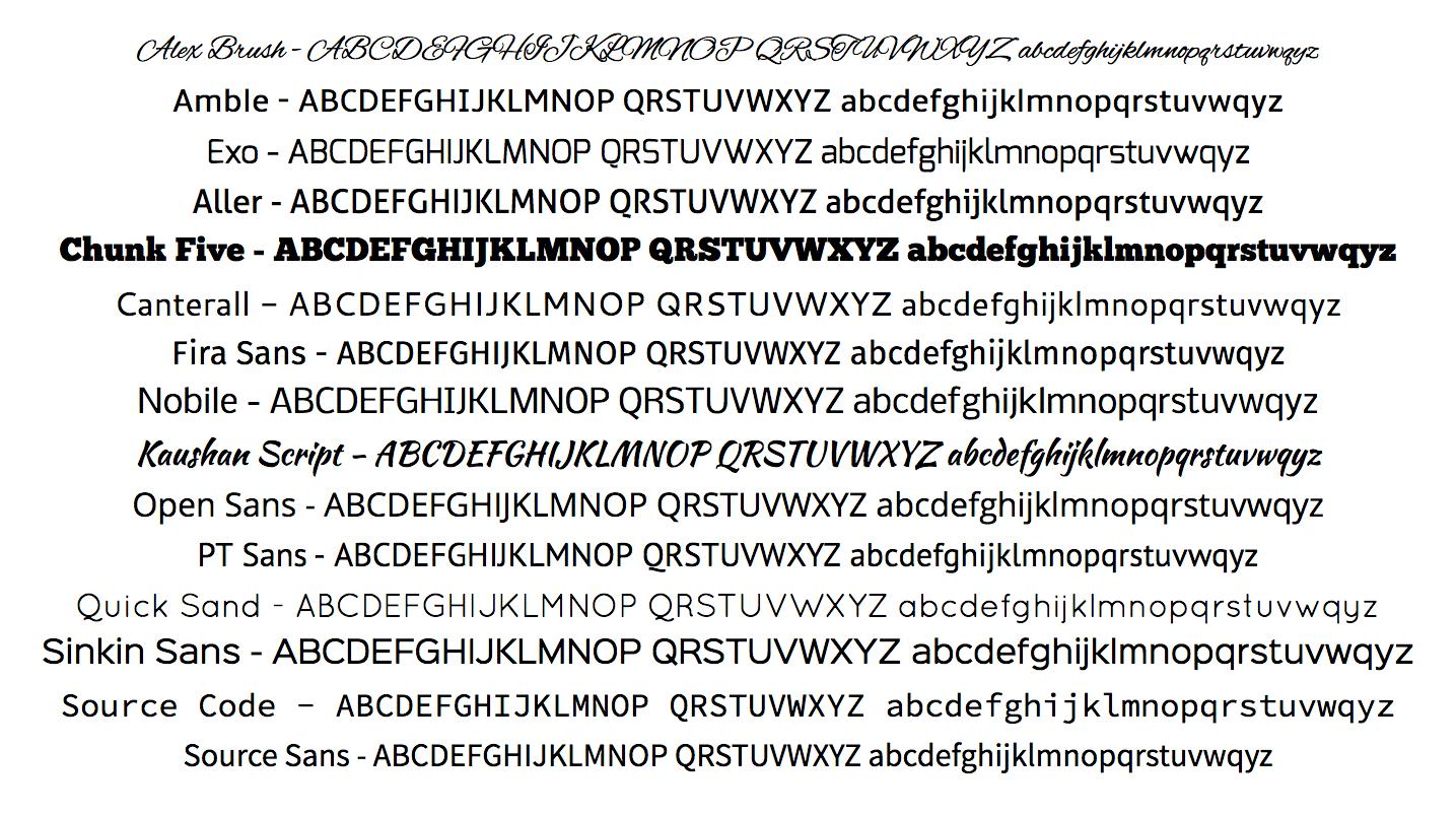embed signage digital signage software - new default fonts