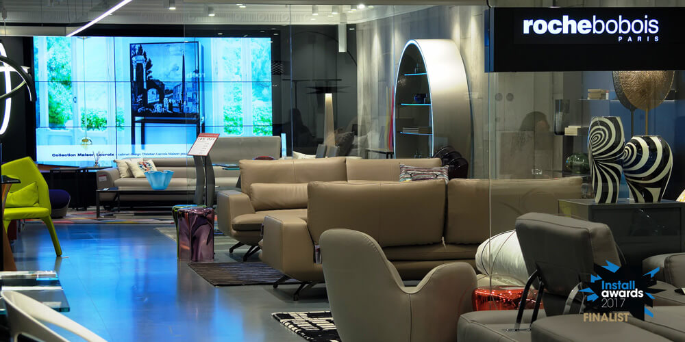 Embed Signage - Digital Signage Software - Install Awards 2017 Retail/Dooh Project of the Year Shortlist - AVMI Roche Bobois