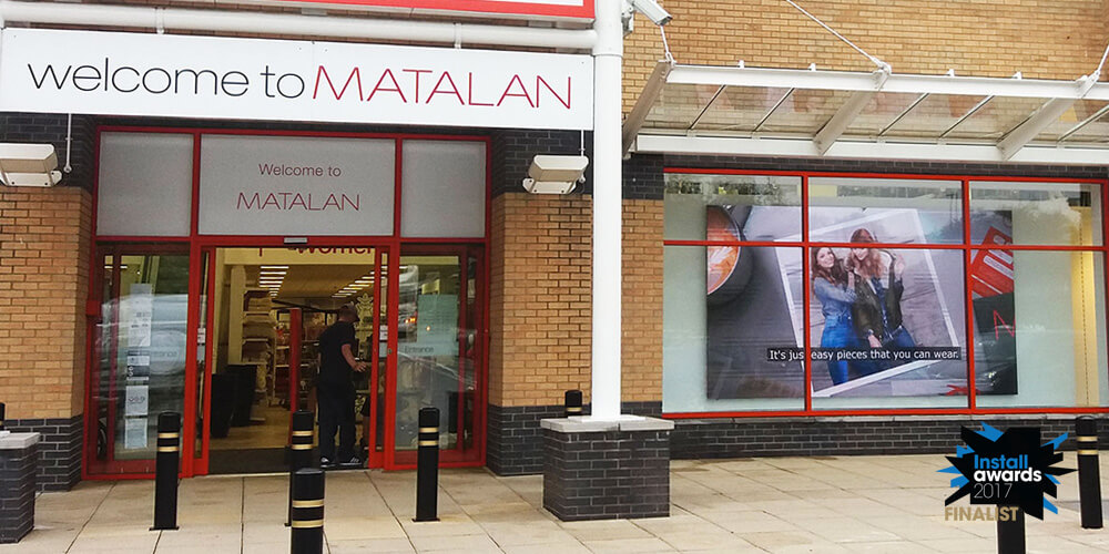Embed Signage - Digital Signage Software - Install Awards 2017 Retail/Dooh Project of the Year Shortlist - Eclipse Digital Media - MATALAN