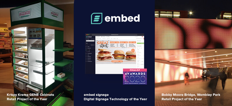 embed signage - digital signage software - AV Awards 2020 Finalists - Three Listings Nominations