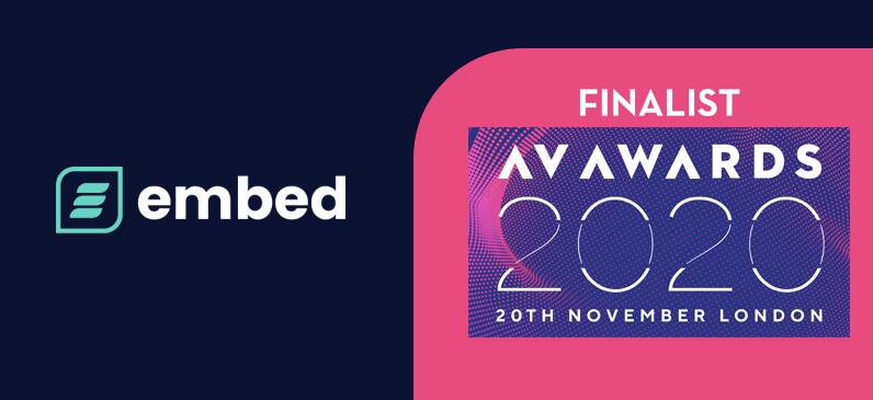 embed signage - digital signage software - AV Awards 2020 Finalists
