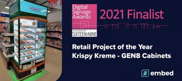 embed signage - digital signage software - Digital Signage Awards 2021 - Retail Project of the Year Finalist - Krispy Kreme GEN8 Cabinets