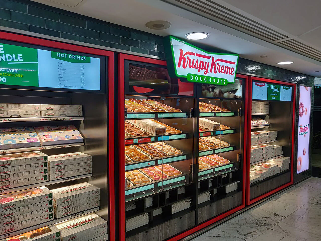 embed signage - digital signage software - Krispy Kreme UK