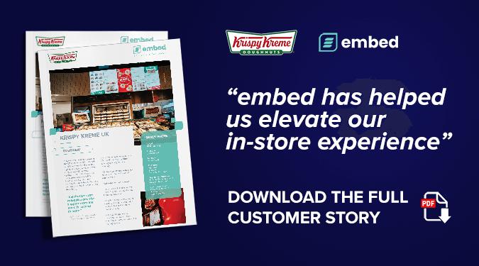 embed signage digital signage software - download krispy kreme customer story