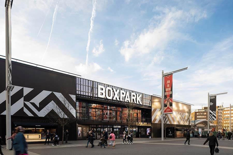 embed signage - digital signage software - Boxpark customer story - Wembley