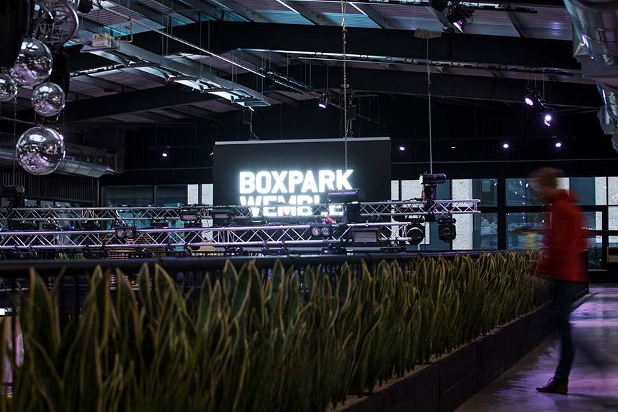 embed signage - digital signage software - Boxpark customer story - Wembley LED